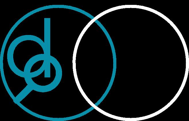 Das Bild zeigt das neue Logo von derma2go in Farbe.