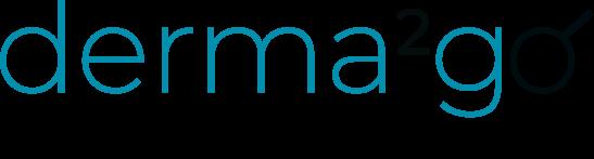 Das Bild zeigt das Logo mit Slogan von derma2go.