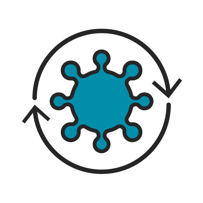 Das Icon fasst alle Beiträge zu chronischen Hauterkrankungen zusammen.