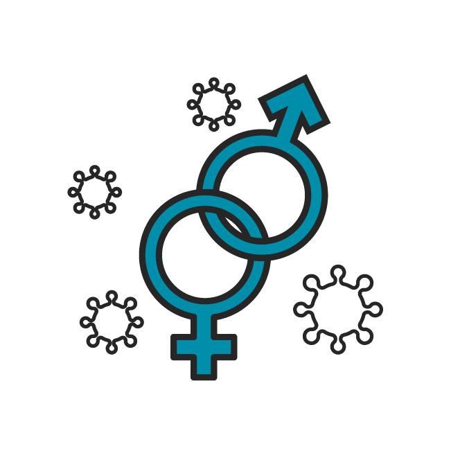 Das Icon fasst alle Beiträge zu Geschlechtskrankheiten zusammen.